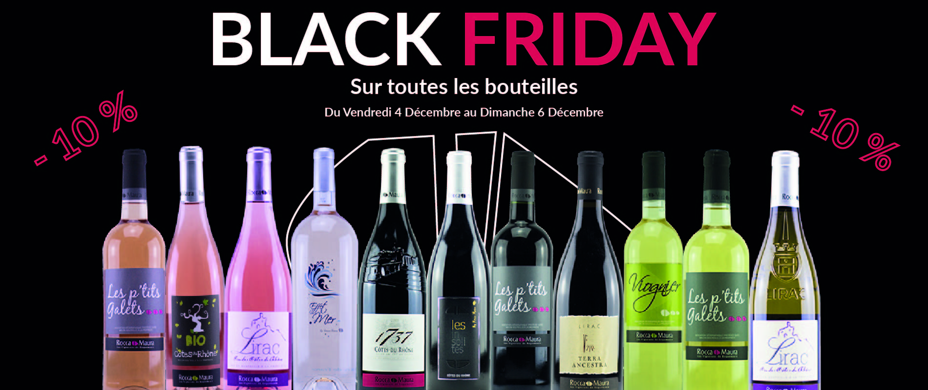 Black Friday sur les bouteilles chez Rocca Maura