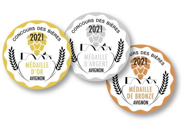 Médailles d'Or au Concours des Bières d'Avignon pour les Rocca Nostra !