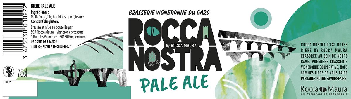 Etiquette de la bière pale ale Rocca Nostra 75cL