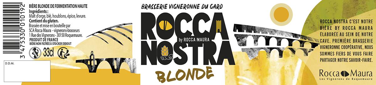 Etiquette de la bière Rocca Nostra 33 cL