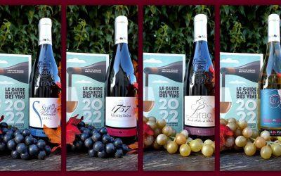 Quatre de nos vins figurent dans le Guide Hachette 2022 !